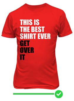 Náhled trička Best shirt ever